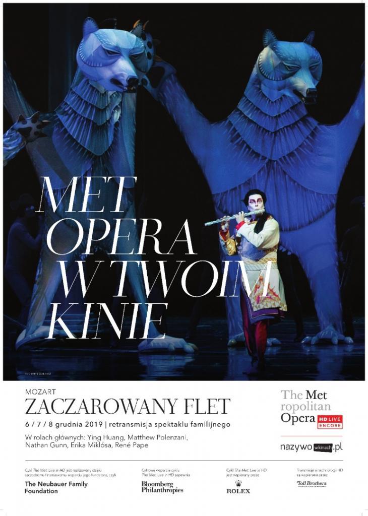 Sztuka na Ekranie: Zaczarowany flet Mozarta – opera familijna